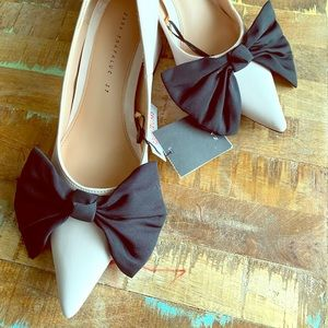 Zara Pink heels  with black bow